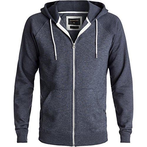 Quiksilver Men's Everyday Zip Hoodie Sweatshirt, Navy Blazer Heather, Large (Day Zip Hoodie)