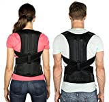 Back Posture Corrector Supportive Clavicle Brace by Start Smart | Adjustable, Breathable, Comfy & Stretchable | Eliminate Neck & Back Soreness, Minimize Rounded Shoulders, Hunched Back & Stand Tall