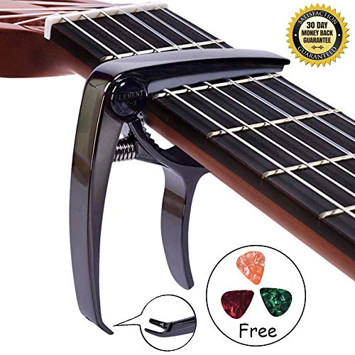 Guitar-Capo-Acoustic-6-String-Capo-Black,Strong and Durable No String Buzz