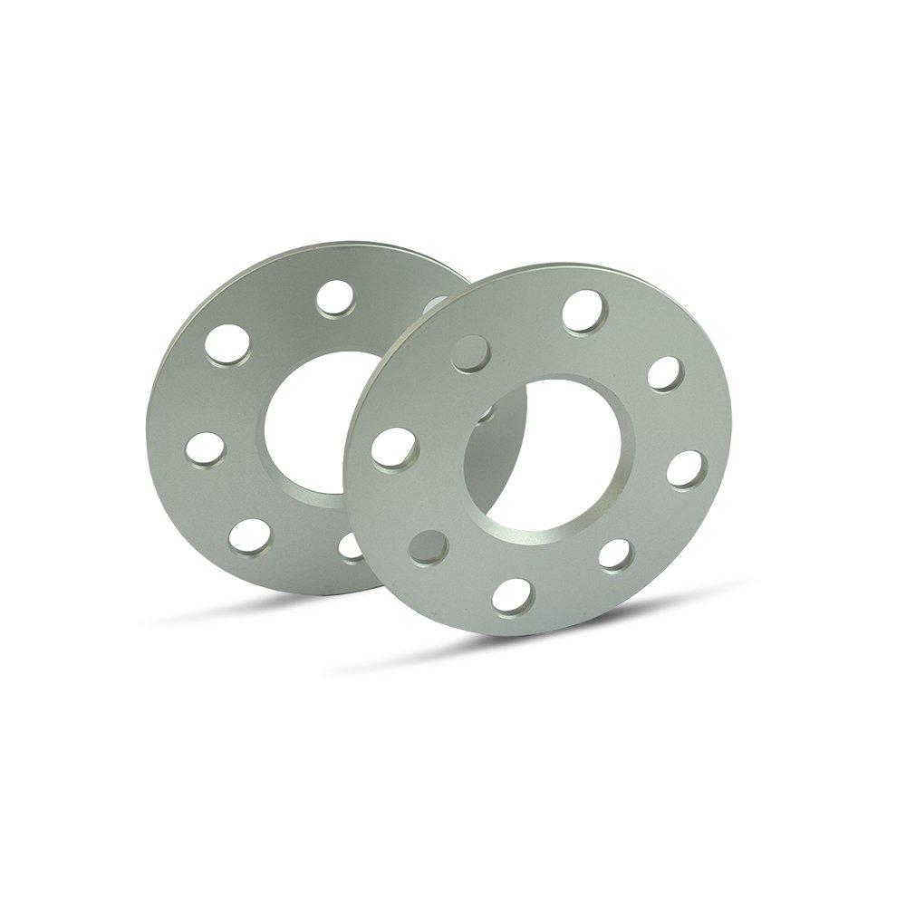 SCC Spurverbreiterung 10202E - silber eloxiert - LK: 100/4+108/4 NLB: 57, 1 - 5mm - 2 Stü ck