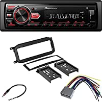 Pioneer Vehicle Digital Music Player Receiver Single DIN Installation Kit for Select 1998-2004 Chrysler/Dodge/Jeep Vehicles