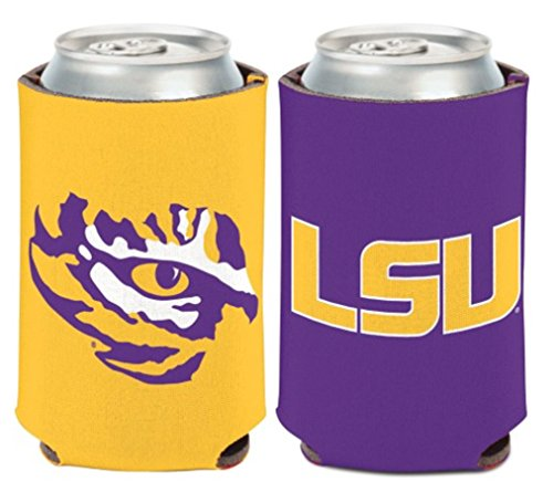 WinCraft NCAA Louisiana State University LSU Tigers 1 Pack 12 oz. 2-Sided Can Cooler