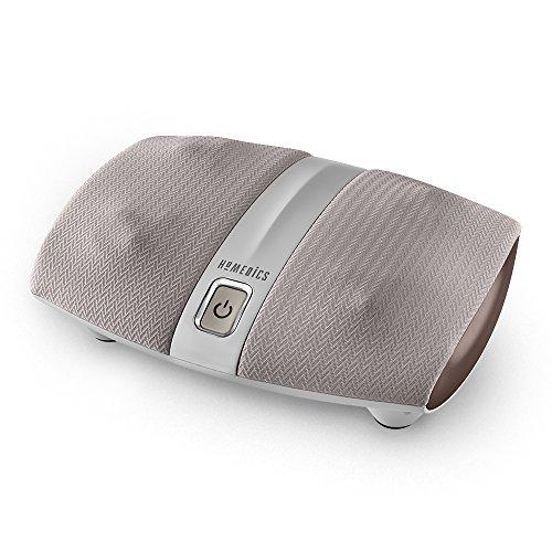Homedics Foot Massage (Shiatsu Select Heated Foot Massager | 4 Rotational Heads, 12 Massage Nodes, Therapeutic Kneading & Rolling | Helps Plantar Fasciitis, Warming Acupuncture Massage, Relaxing Heat Treatment | HoMedics)