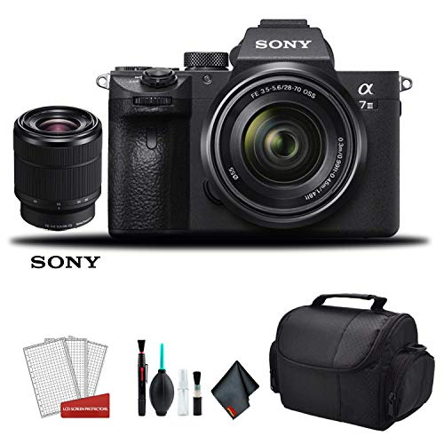 Sony Alpha a7 III Full Frame Mirrorless Digital Camera with 28-70mm Lens ILCE7M3K/B - Bundle Kit