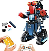 STEM Robot Toys for Kids, Cool Science Building Block Kit for Boy and Girl, Fun Educational Remote Control Toy with App...