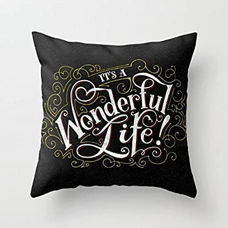 Amazon.com: yahouse decorativo funda de almohada su una vida ...