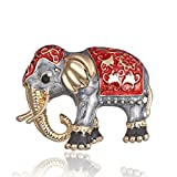 ptk12 Fashion Painting Oil Animal Pet Elephant Cartoon Alloy Brooch Needle Corsage Accessories Vintage