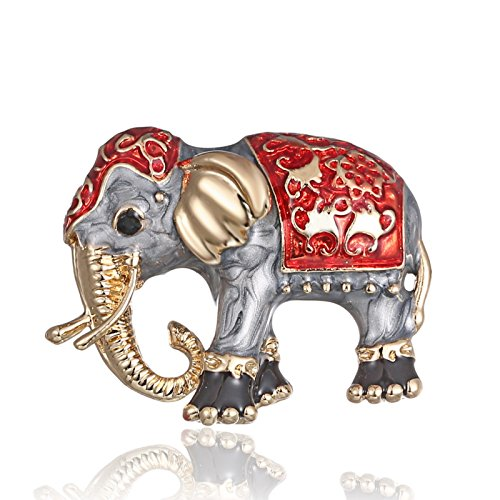 ptk12 Fashion Painting Oil Animal Pet Elephant Cartoon Alloy Brooch Needle Corsage Accessories Vintage by ptk12
