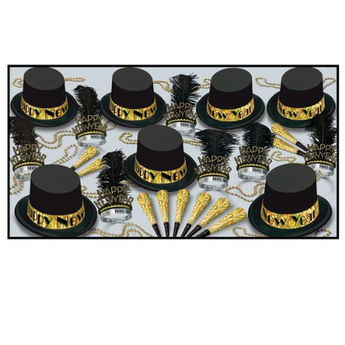 Gold Top Hat Party Supply Pack by Shindigz