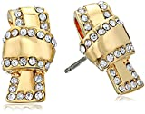 kate spade new york Pave Knot Clear/Gold Stud Earrings