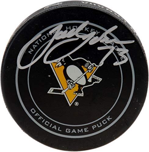 Jack Johnson Pittsburgh Penguins Autographed Official Game Puck - Fanatics Authentic Certified - Autographed NHL Pucks