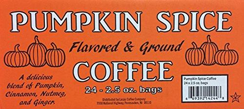 (Lacas Pumpkin Spice Coffee 24 x 2.5 Oz bags)
