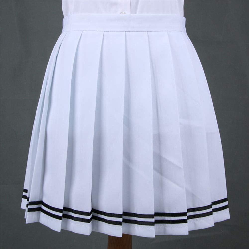 HEHEAB Falda,Las Mujeres Blancas De Cosplay Uniforme Escolar Chica ...