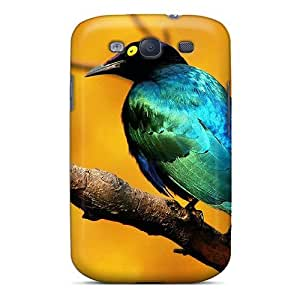 Awesome Blue Bird Flip Case With Fashion Design For Galaxy S3