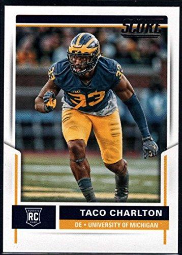 Taco Charlton 2017 Score Rookies #432 RC Rookie Football Card Michigan