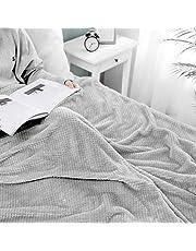 MIULEE Knuffeldeken, granulaat, fleecedeken, flanel, zacht, pluizig, effen, woondeken, bankdeken, deken voor bed, bank, slaapkamer, kantoor, 150 x 200 cm, lichtgrijs