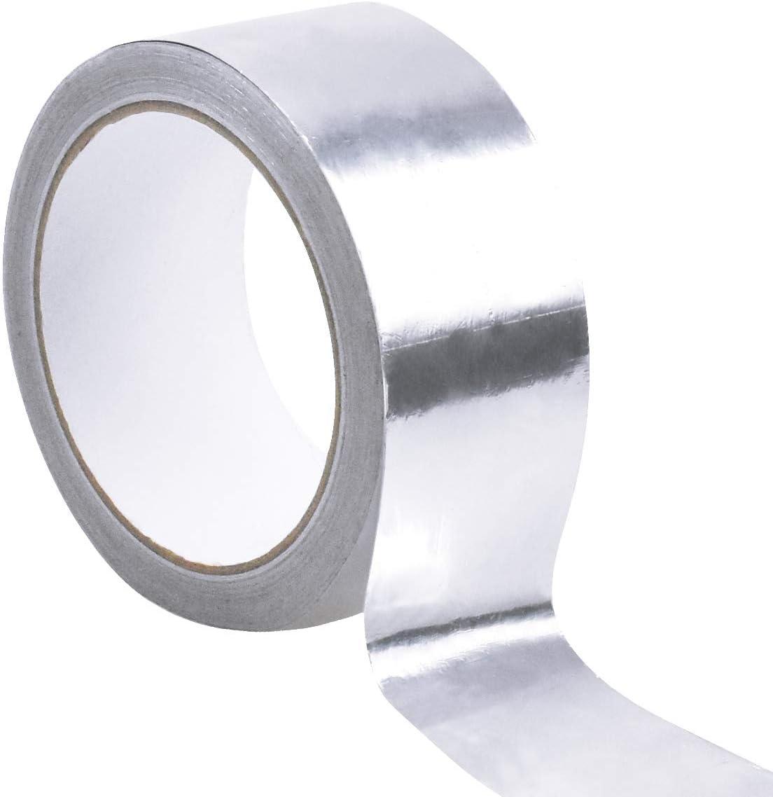 Cinta Met/álica para Reparaciones Aislamiento 50mm x 20m Cinta de Aluminio Cinta Adhesiva de Aluminio Cinta Aislante Autoadhesiva Cinta de T/érmica Resistente al Calor Cinta de Papel Aluminio