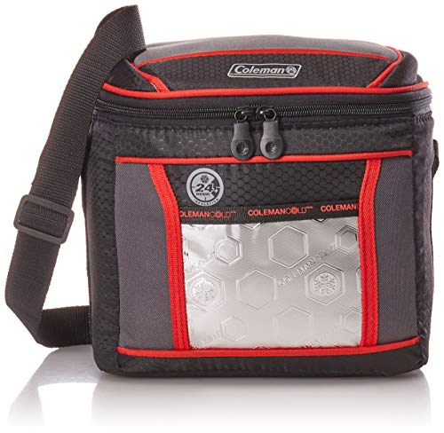 Coleman Soft Cooler Bag | Keeps Ice Up to 24 Hours | 9-Can Insulated Lunch Cooler with Adjustable Shoulder Straps | Great for Picnics, BBQs, Camping, Tailgating & Outdoor Activities ()