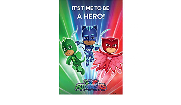 Official Licensed PJ Masks - Poster (Hero #214) : Amazon.es ...