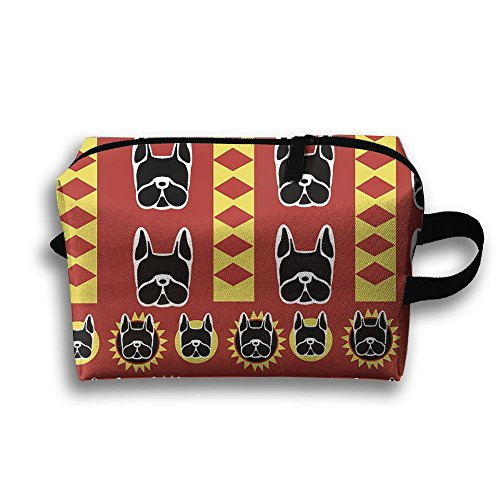 Bull Indian Print (French Bulldog Full Print Classic Travel Cosmetic Pouch Bag Perfect And Stylish Storage Package Cosmetic Bag Makeup Bag)
