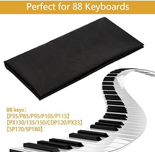 Philonext piano cubierta del teclado, cubierta de polvo extensible con cordón elástico ajustable para 88 teclas teclado electrónico digital piano y ...