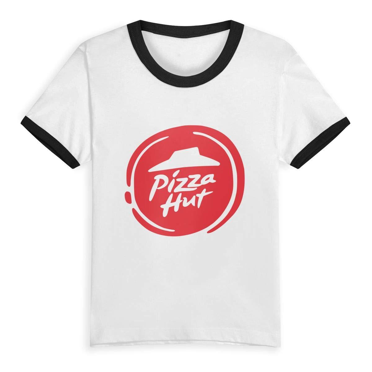 Pizza Hut Unisex Youths Short Sleeve T-Shirt Kids T-Shirt Tops