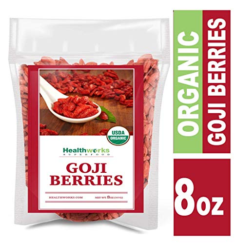Healthworks Goji Berries Raw Organic 8 Ounce