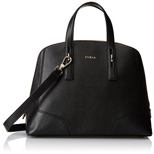 Furla Perla Medium Satchel Top Handle Bag, Onyx, One Size
