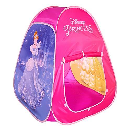 510zsdqigdL. SS500 Juega o duerme como una princesa en esta tienda pop up de Disney Mide 74x97 cm, pesa 665 kg y tiene un diseño rosa con las princesas Bella y Cenicienta Tiene 2 puertas: 1 con cierre de velcro y otra con tiras de tela