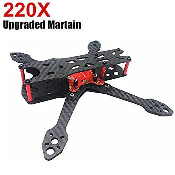 220 Martian II FPV Racing Drone Carbon Fiber Quadcopter Frame (4mm Arms) with Power Distribution Board by Crazepony