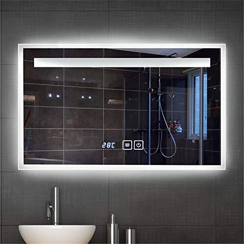 KJUHVBF Espejo de bano Iluminado, antiniebla, Inteligente LED, Maquillaje de multiples Funciones, Lavado para bano Bano