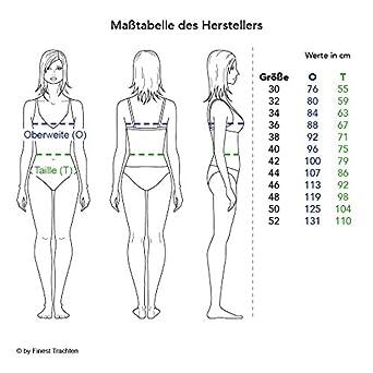 Kr/üger Dirndl Damen Trachten-Mode Mini Dirndl Birte in Blau traditionell