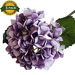 XIAOHESHOP XHSP 5 Heads Artificial Silk Flower 6 Branches Hydrangea Home Hotel Wedding Party Garden Decor 57