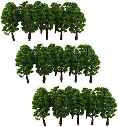 sharprepublic モデルツリー 樹木模型 木 鉢植え用 1:150 鉄道模型 風景 モデル トレス ジオラマ 建築模型 電車模型 約60個