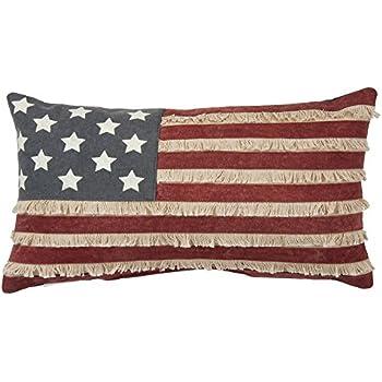 Brand-new Amazon.com: American Flag-Like Print Rectangular Throw Pillow  QT93
