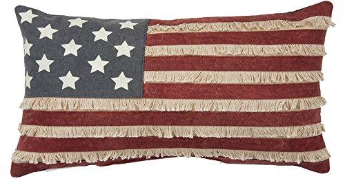 primitives by kathy patriótico bandera americana algodón, para el hogar o la oficina, en forma, 19x 25.4cm