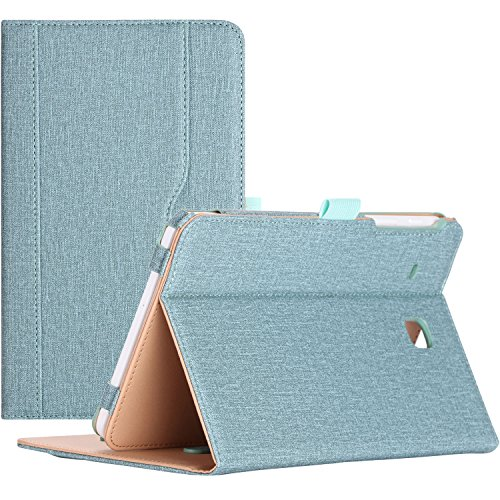 ProCase Samsung Galaxy Tab E 8.0 Case - Stand Folio Case Cover for Galaxy Tab E 8.0 4G LTE Tablet (Sprint,US Cellular, Verizon) SM-T377, Multiple Viewing Angles, Document Card Pocket (Teal)
