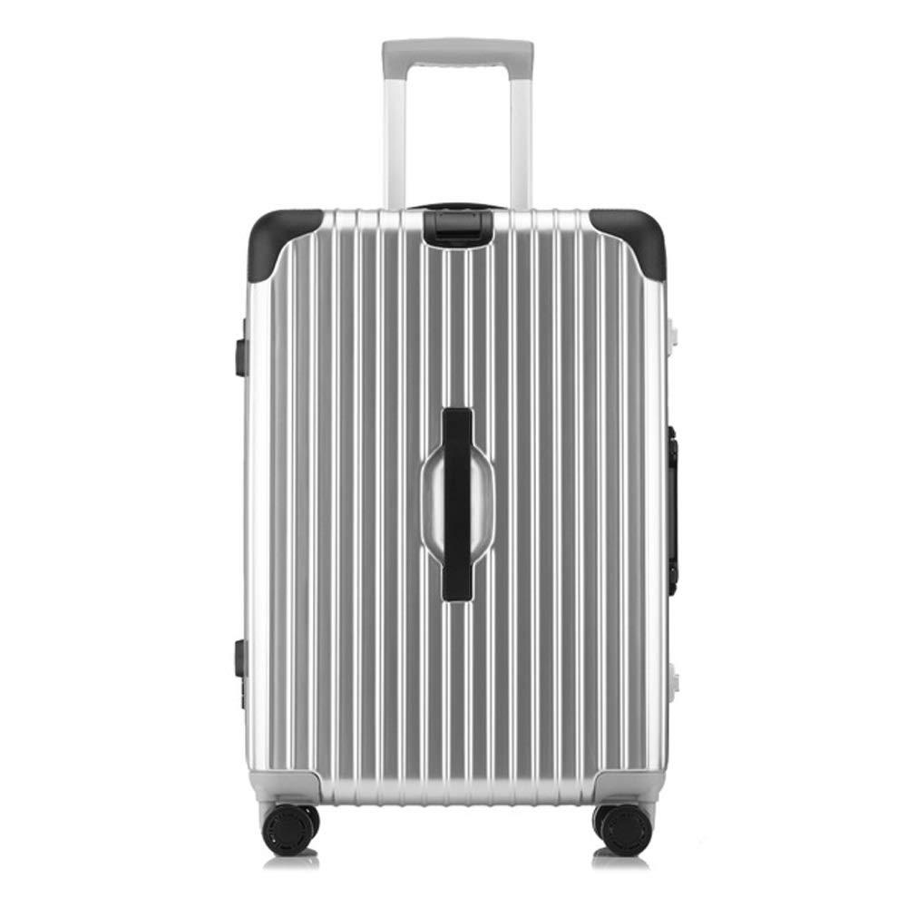 荷物の軽量の出張旅行はTSAロックの堅いスーツケースのABS + PCアルミニウムフレームで続けます (色 : シルバー しるば゜, サイズ さいず : #26) #26 シルバー しるば゜ B07QZZDM9H