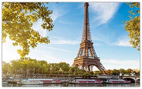 (paris-france-la-tour-eiffel-eiffel-tower-seine-boat travel sites Postcard Post card)