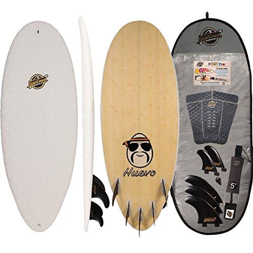 Gold Coast Surfboards Hybrid Soft Top Surfboard | 4'10 Huevo Surf Board | Fun High Performance Surf Boards