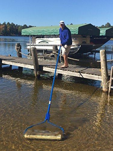 BEACHROLLER - Weeds Muck Silt GONE! Lake weed removal tool. NEW 2017 aluminum handle model by Beachroller