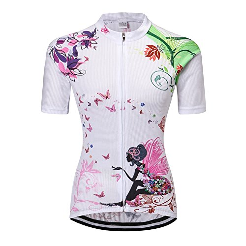 Women Outdoor Breathable Short Sleeve Cycling Jersey Short Pants - 8