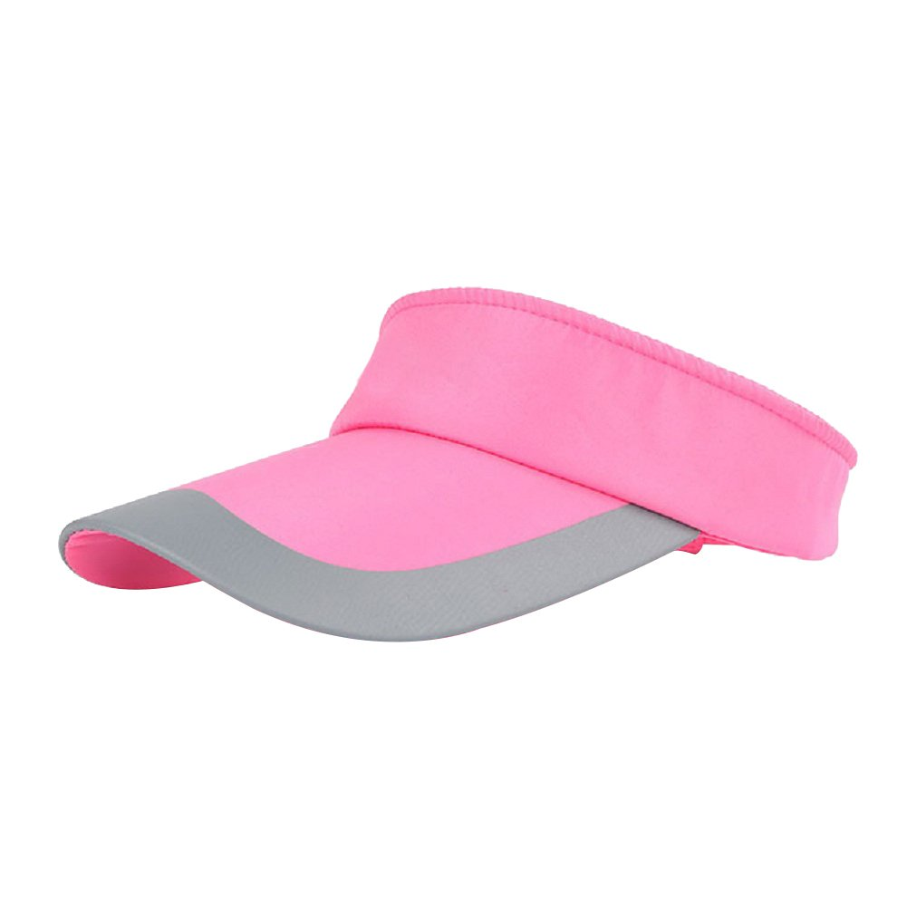 Hosaire Womens Sport Visor Cap Ladies Sports Tennis Golf Running Sun Hat  size 50cm-60cm (Pink)  Amazon.co.uk  Kitchen   Home 6c8ab4e20d1
