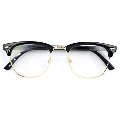 Amazon.com: Jgny - Horn Rimmed Clear Lens Glasses Malcolm X Style ...