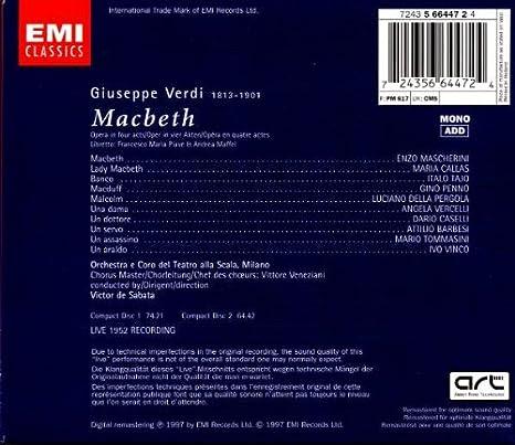 Macbeth : G. Verdi: Amazon.es: Música