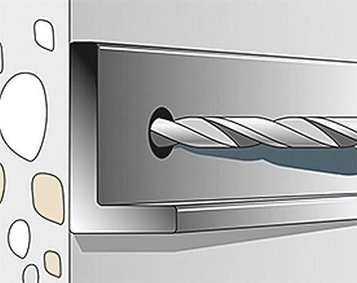 Heco mms Plus Hexagonal Tornillo Multi de Monti Tornillos de anclaje con disco 48391 plateado