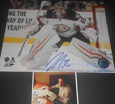 Signed Anaheim Ducks - John Gibson Anaheim Ducks Autographed Signed 8x10 Picture B