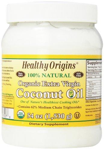 Healthy Origins Organic Extra Virgin Coconut Oil, 54 Ounce