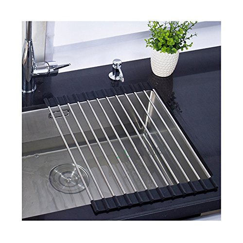 Kitchen Folding Small Mat Over The Sink Compact Stainless St