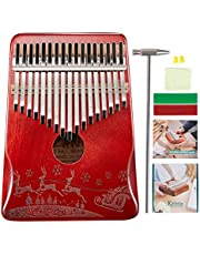 $22 » Kalimba 17 Keys Thumb Piano,Mahogany Wood Portable Musical Instrument Finger Piano with Study Instruction and Tune Hammer,Gift for Kids Beginners Professionals